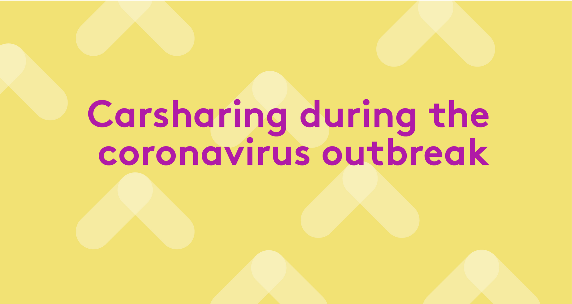 Carsharing during the coronavirus outbreak
